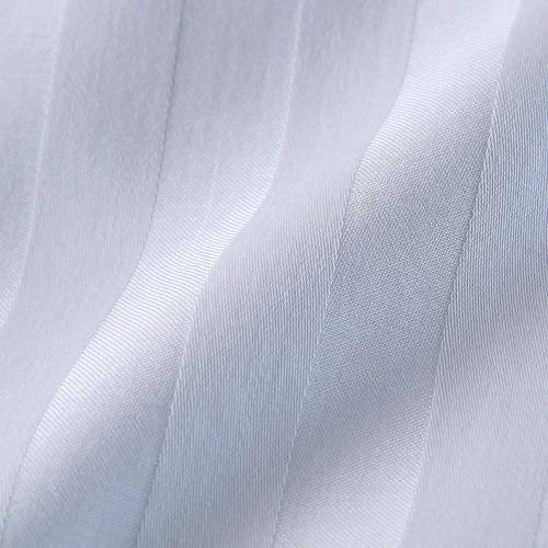set duvet 7 pzas blanco líneas king