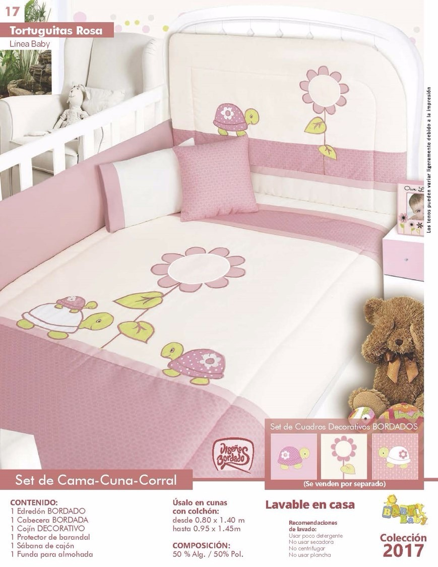 Set edred n cama cuna bordado para beb s marca baby ni as for Cama cuna para nina
