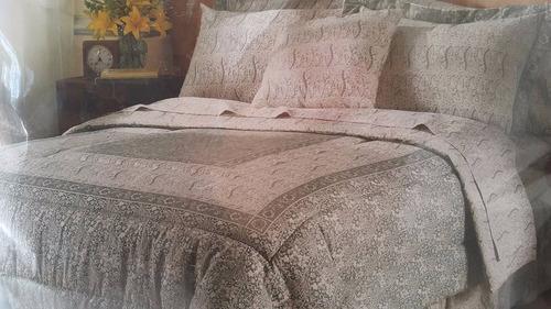 set edredon de cama queen 100% algodón