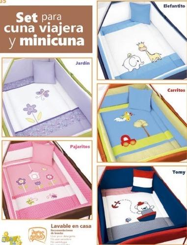 set edredón para cuna viajera y minicuna marca baby baby