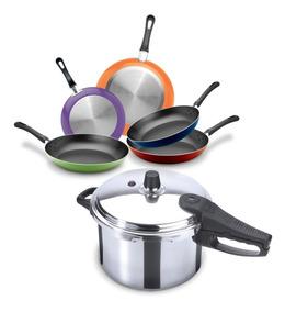 ~! TEFAL Duetto Acero Inoxidable Cookware Set 7 Pcs Ollas de cocina de tapa de vidrio ~