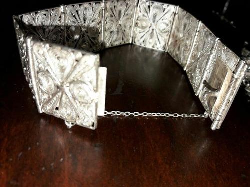 set en plata filigrana sellada año 40