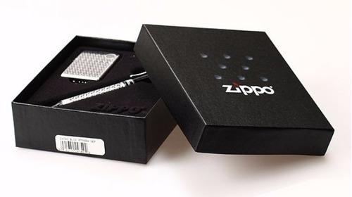 set encendedor + lapicera zippo 24749 - jugueteria aplausos