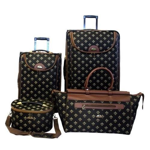 set equipaje american flyer luggage fleur de lis 4 piece se