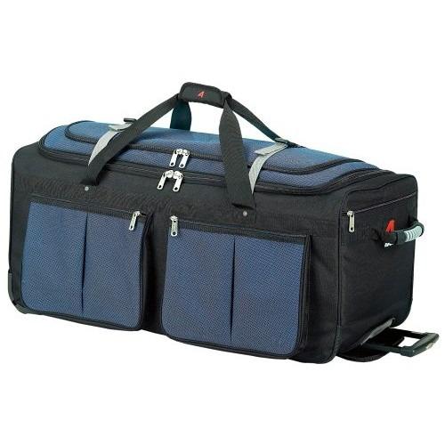 set equipaje athalon equipaje  bolsillo duffel azul, un tam