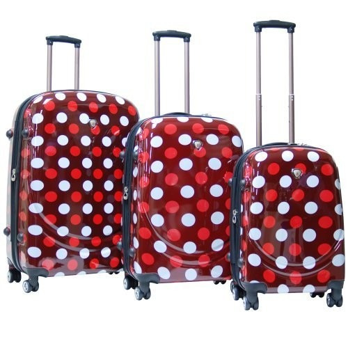 set equipaje calpak montego bay 3pc luggage set lunares roj