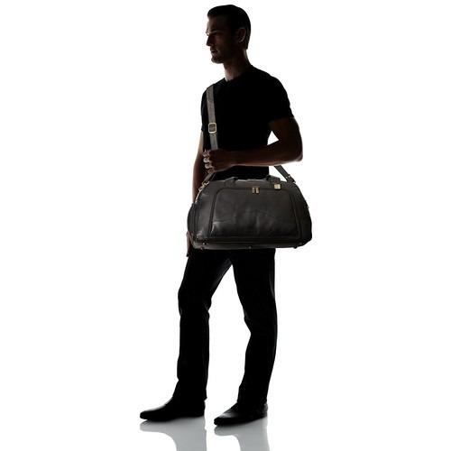 set equipaje claire caza weekender duffel negro, un tamaño