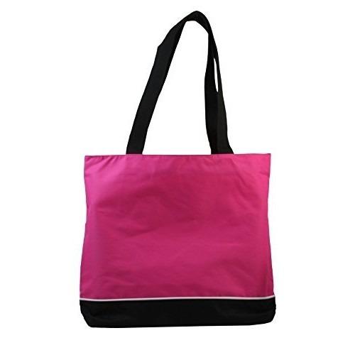 set equipaje hombro bolsa de tela con cremallera frambuesa
