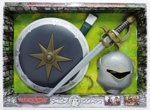 set escudo mascara y espada c/sonido de caballero jlt 212 3
