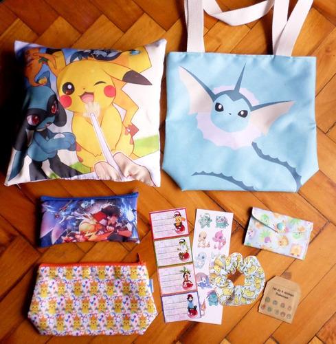 set especial para regalo de anime pokemon vaporeon bulbasaur