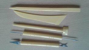 set estecas herramientas x 5 und. procelana fria - fondant
