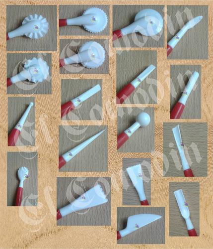 set estecas herramientas x 9 und. procelana fria fondant