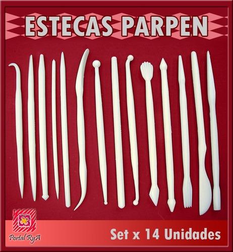 set estecas x 14 unid parpen - porcelana fría y repostería