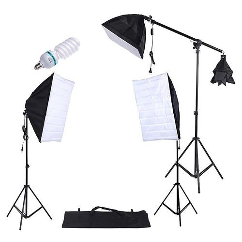 set estudio fotográfico profesional con accesorios grande