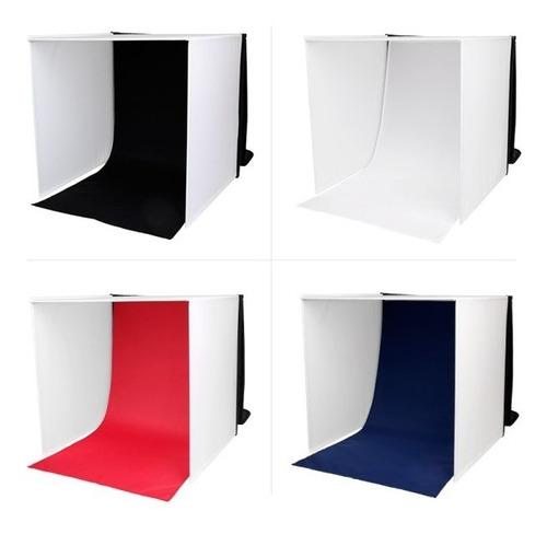 set estudio fotográfico profesional portatil 60x60x60cm
