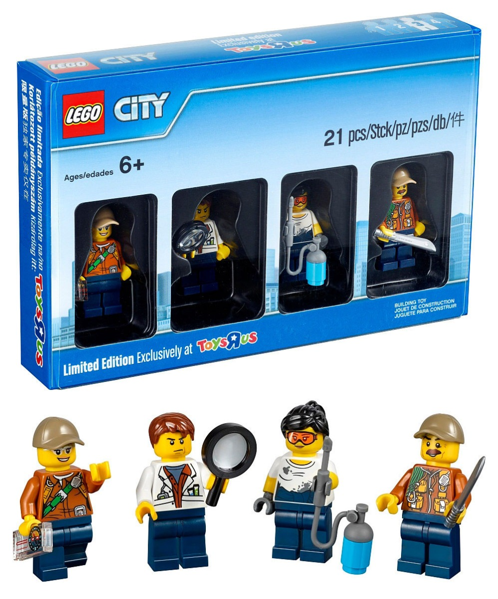 *NEW* Lego Jungle CITY Minifigure Collection Toys R Us Limited Edition 5004940