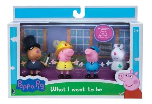 set figuras peppa pig 4pk animal lo que quiero ser