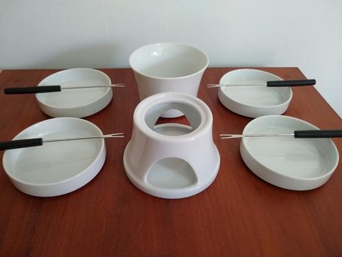 set  fondue para chocolate x 10 piezas