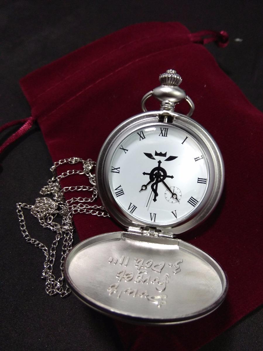 6bf1fad7d14f set fullmetal alchemist reloj de bolsillo cadena alquimista. Cargando zoom.