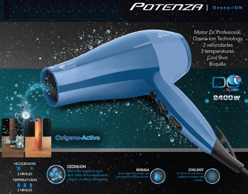 set gama 4d therapy planchita + secador potenza + protector