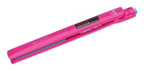 set gama bloom pink planchita led + secador + protector