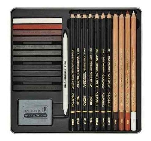 set gioconda 8899 sketching lata 24 piezas koh-i-noor
