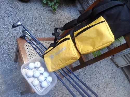 set golf 4 hierros importados + bolso + pelotas + envío
