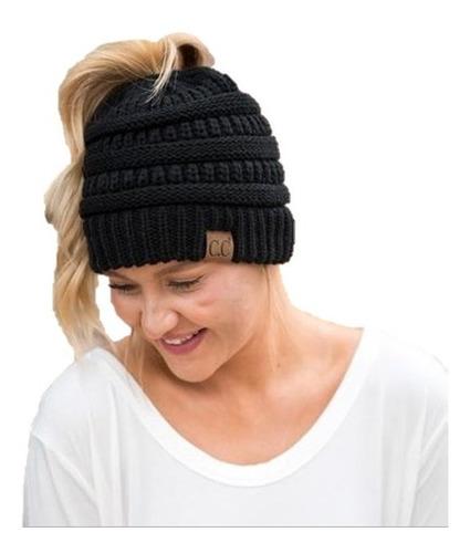 set gorro beanie con bufanda infinita lana invierno marca cc