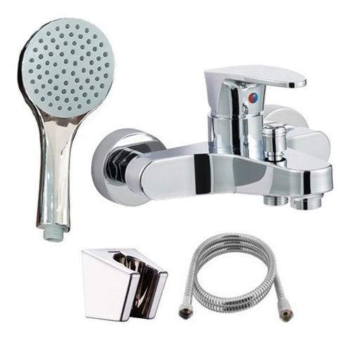set griferia baño lavatorio alto  + ducha monocomando cuotas
