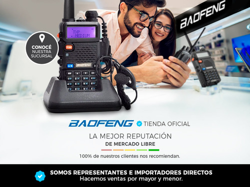 set handy profesional baofeng recargable uv5re handi uhf vhf