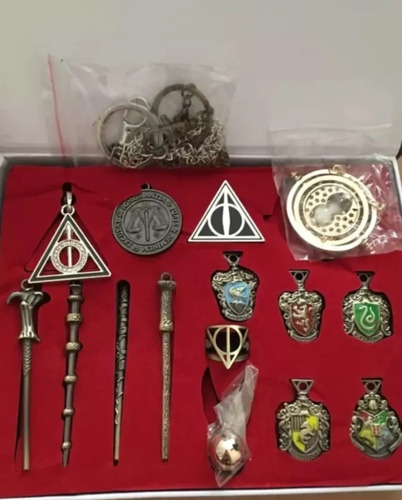 set harry potter varitas gira tiempo, snitch, reliq envio