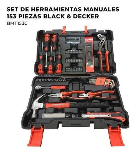 set herramientas kit juego manuales black decker 153 piezas
