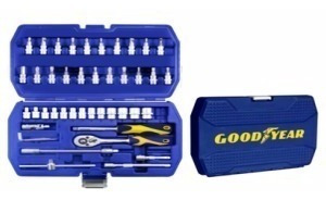 set herramientas llave inglesa goodyear  46pzs pintumm