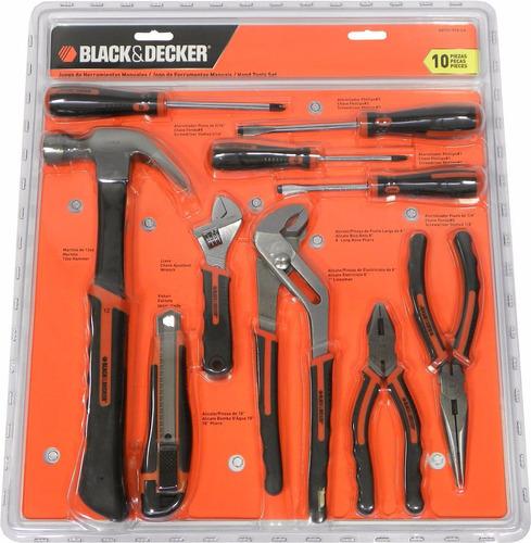 set herramientas manuales 10 piezas black decker hdt51-910la