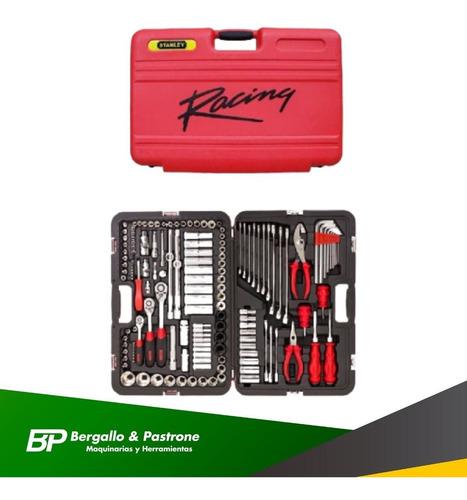 set herramientas stanley racing 150 pzas. maletin caja tubos