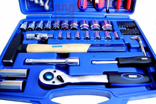 set herramientas tubos llaves comb 55pz enc. 1/2-1/4 bremen