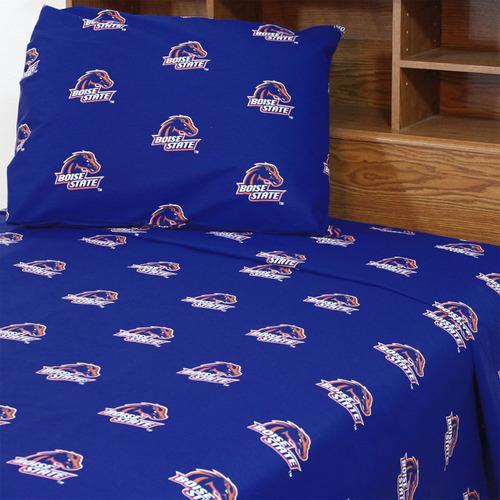set hoja cama boise state broncos set hoja colegial azul