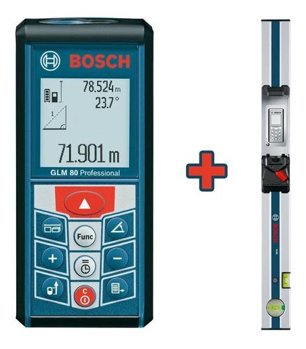 set inclinometro telemetro bosch glm 80 mt + regla nivel r60