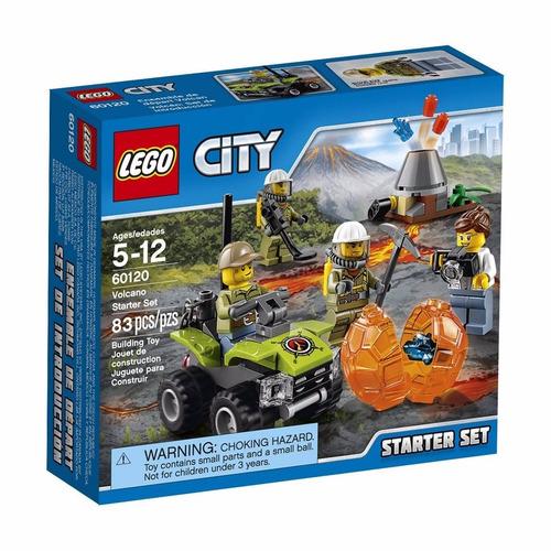 set introducción: volcán lego city