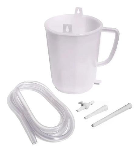 set irrigador para enema recipiente tubo cánula y robinete