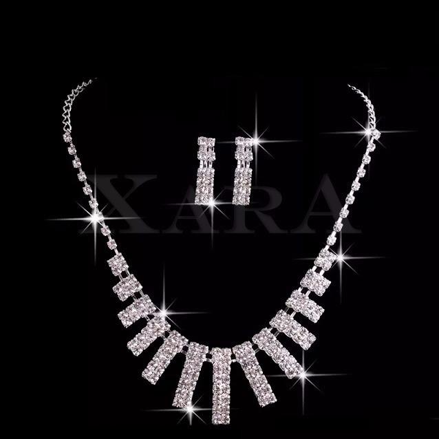 902476a95fc9 Set Joyeria Diamantes Aretes Brazalete Pulsera Quinceañera