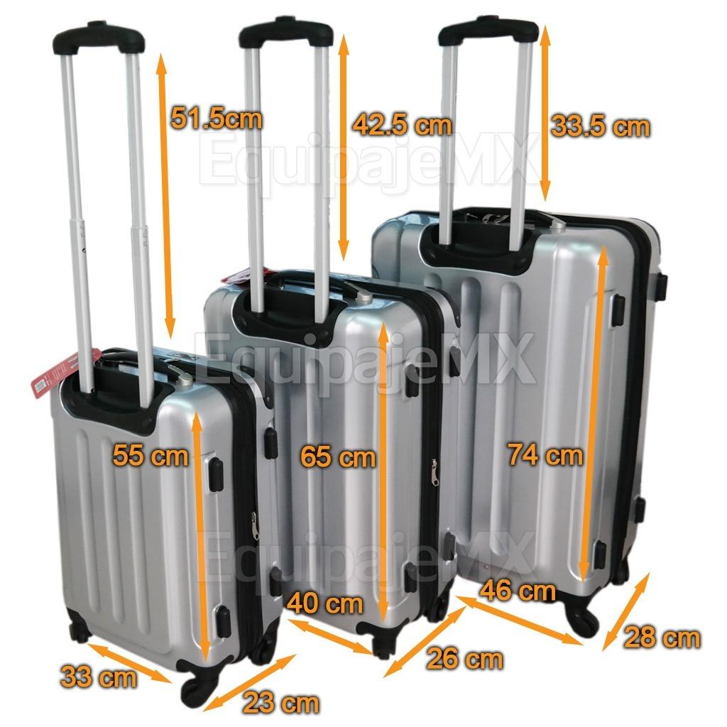 1b9229a68 2 set juego 3 maletas 20 24 28pulg rígidas candado tsa plata /. Cargando  zoom.