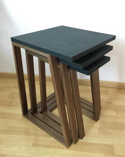 set juego de 3 mesas auxiliares para sala o recamara