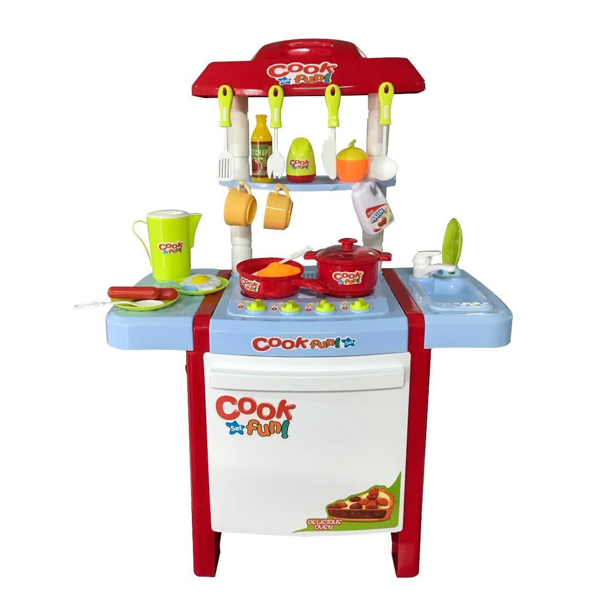 Set juego de cocina 26 piezas juguete ni os regalo for Cocina ninos juguete