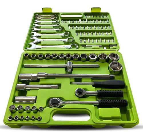set juego de tubos llaves y puntas kroner de 99 piezas