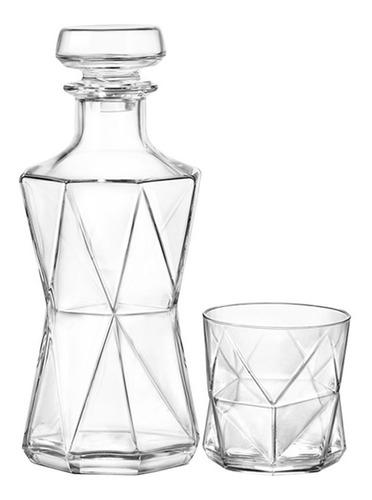 set juego de vasos y decanter de whisky de vidrio bormioli