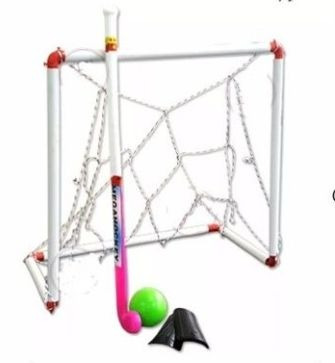 set juego hockey palos + pelotas + arco - fair pay toys