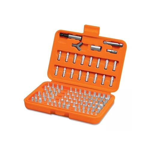 set juego kit herramientas puntas c/maletin 100 pzas truper