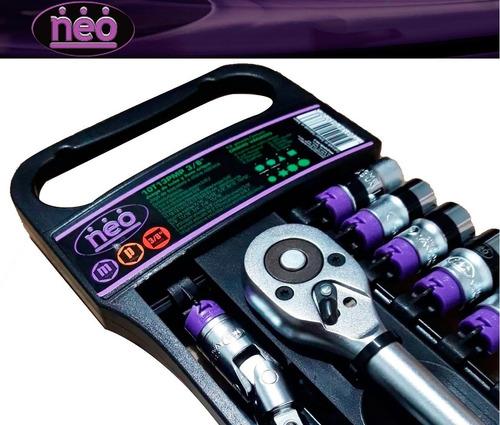 set juego kit tubos accesorios 3/8 crique + bocallave 13 pcs