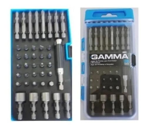 set juego puntas gamma atornillador estuche kit 39pz taladro